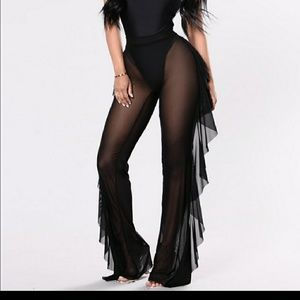Pants - Sunshine See Through Cover Up Pant - Black